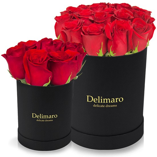 flowerbox,czerwone róże w pudełku,kwiaty w pudełku